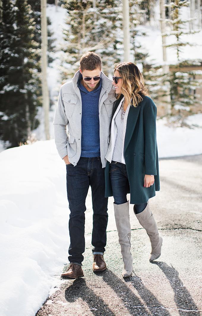 mens grey winter coat