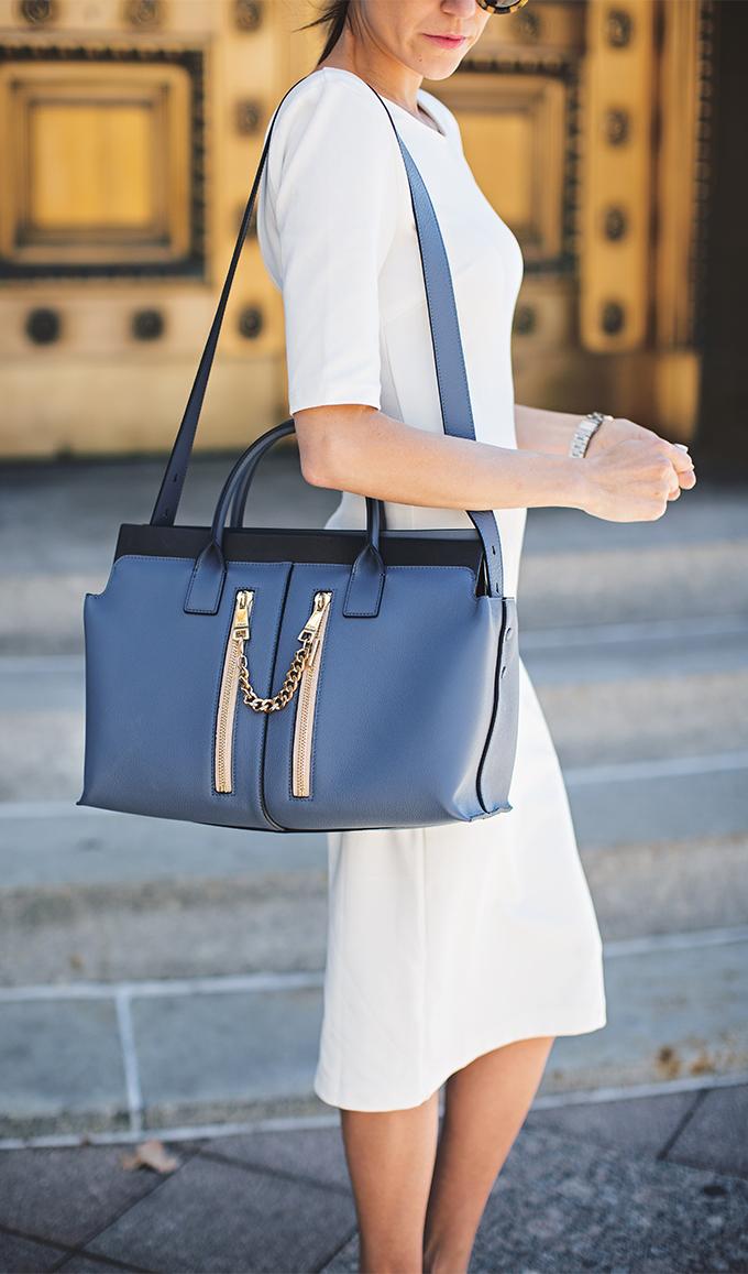 blue and white hello fashion