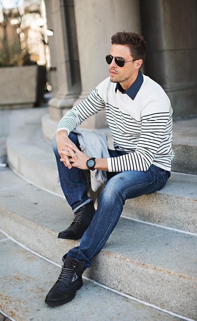 men stripe sweater