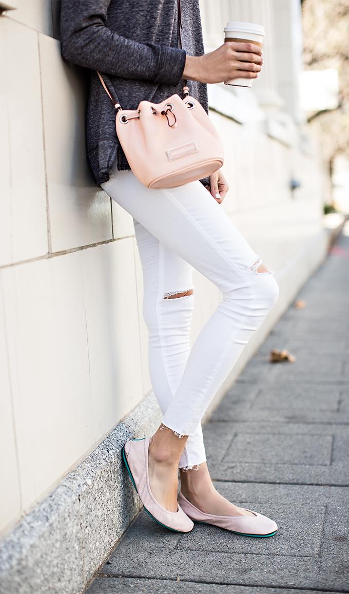mini pink bucket bag