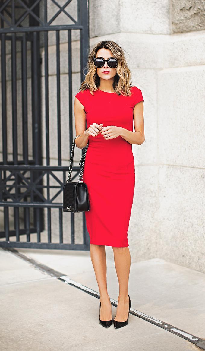 red dress hello fashion