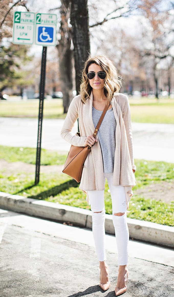 white and tan