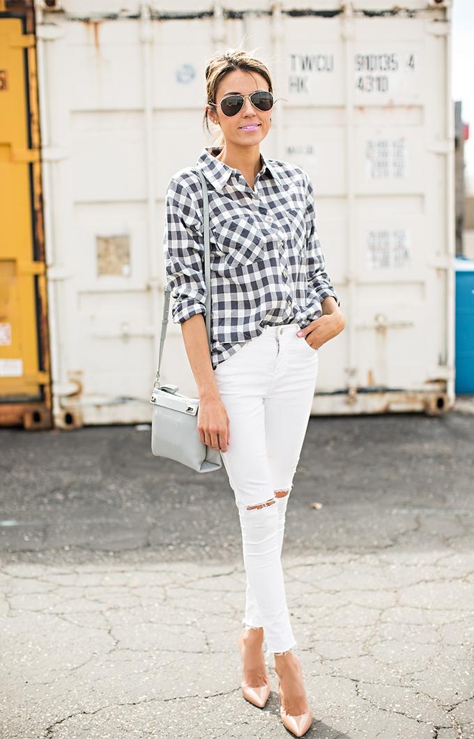 gingham shirt hello fashion blog