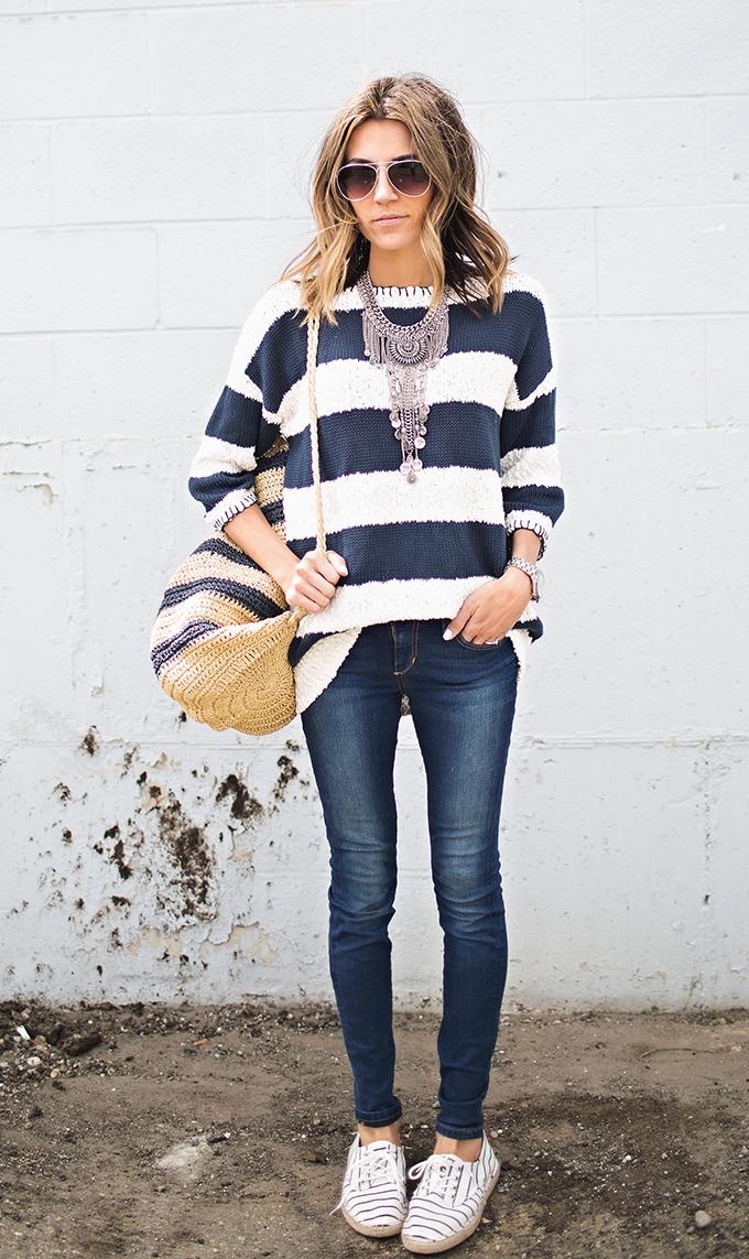 fashion blogger stripes