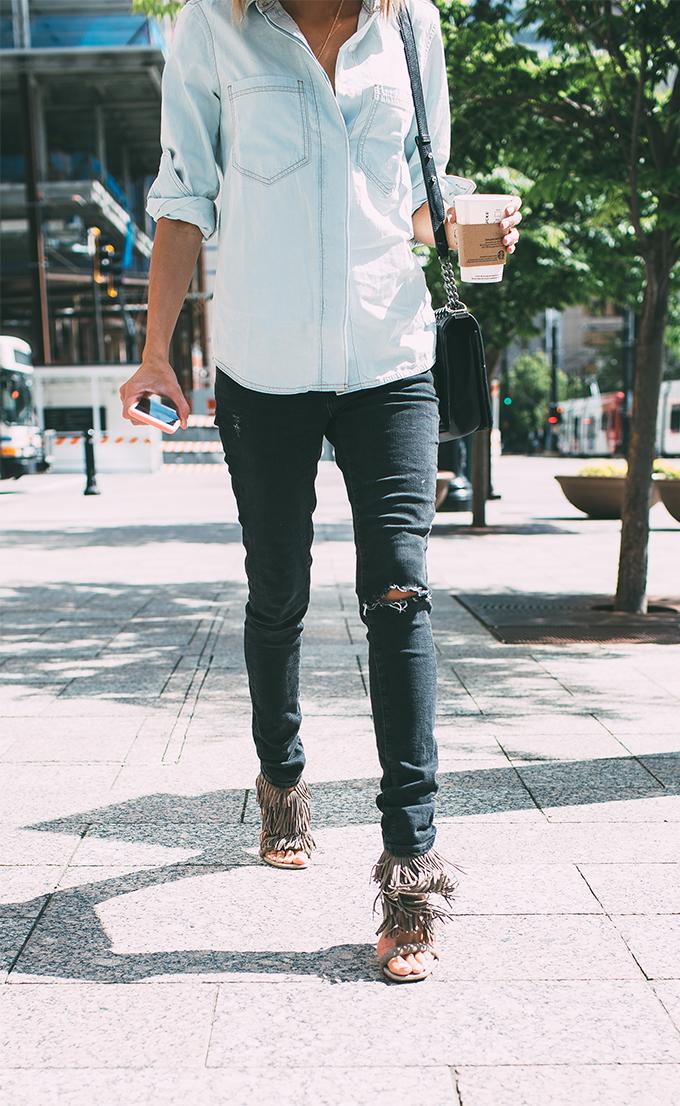 black and denim hello fashion blog