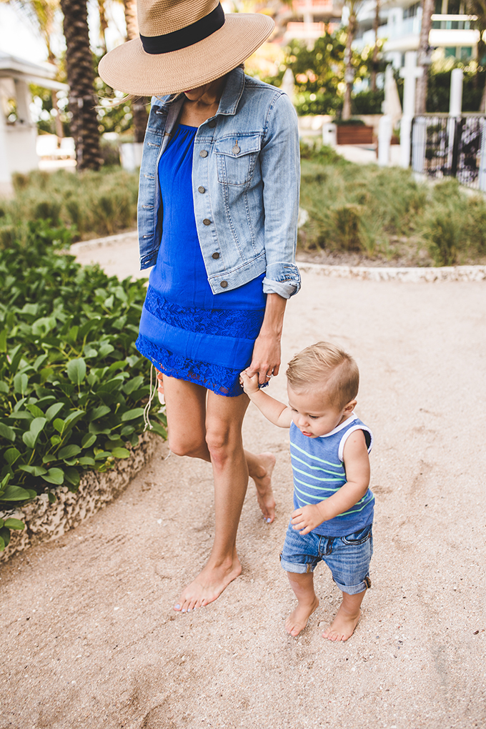 mom and son beach outfit