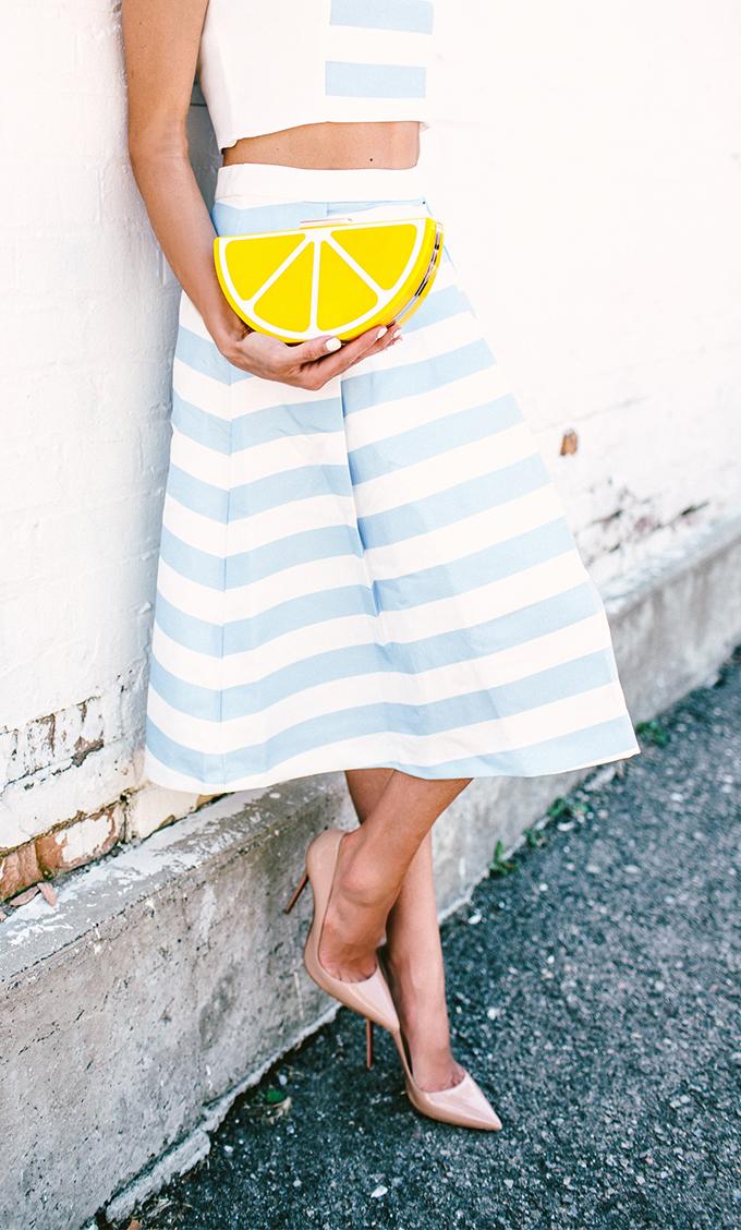 stripe skirt hello fashion