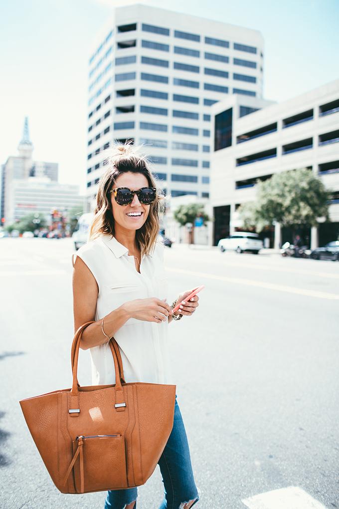 tan tote hello fashion blog
