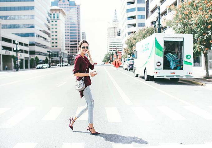 bugundy outfit hello fashion blog