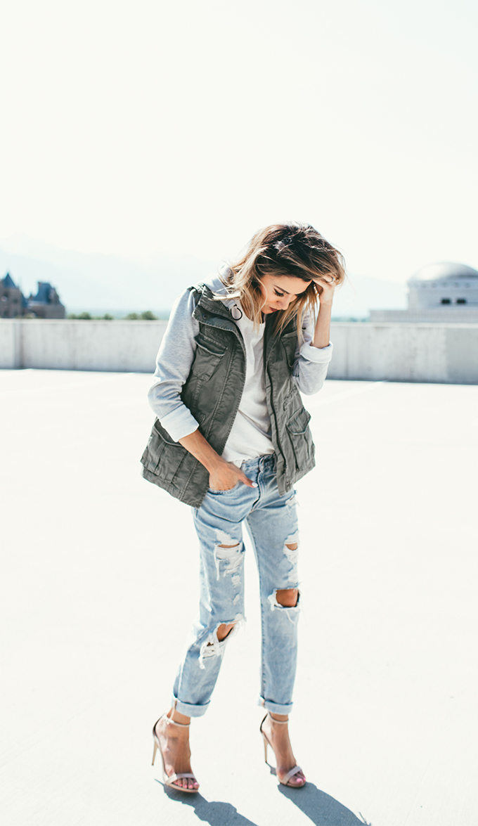 ripped jeans and jacket