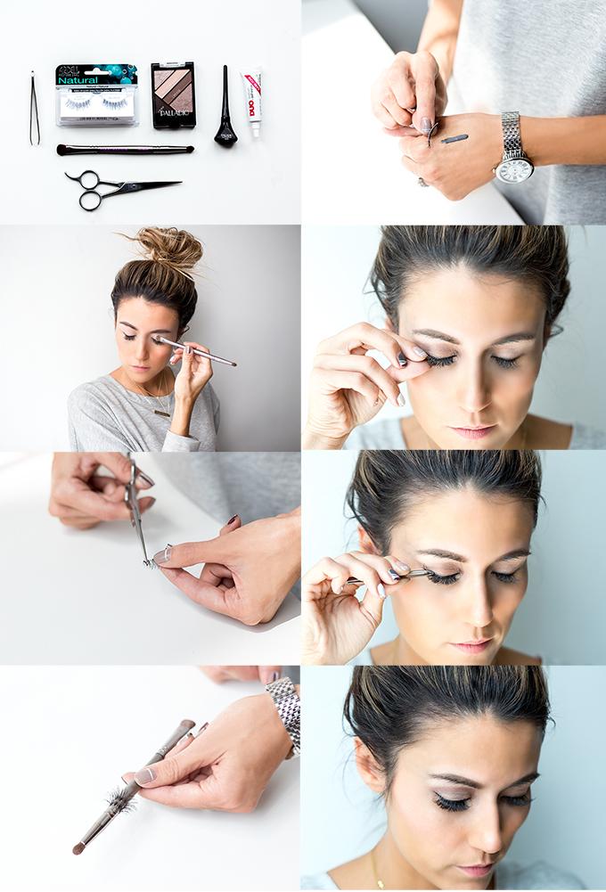 how to fix false lashes