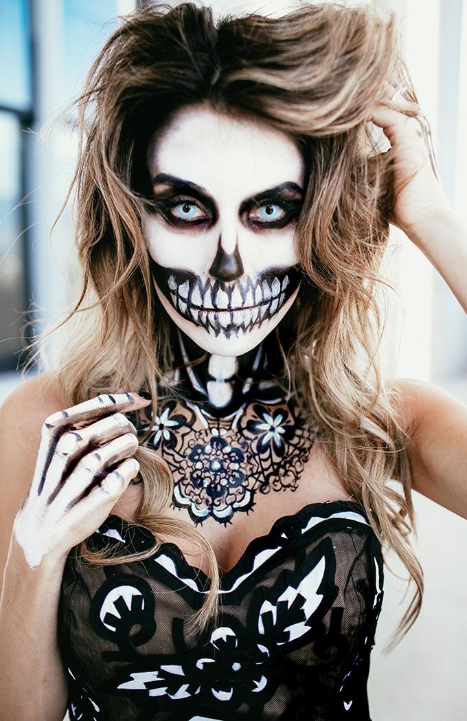 christine andrew hello fashion skeleton makeup - Halloween Costume Death