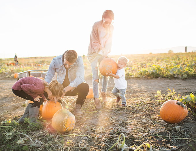 family pumpkin patch