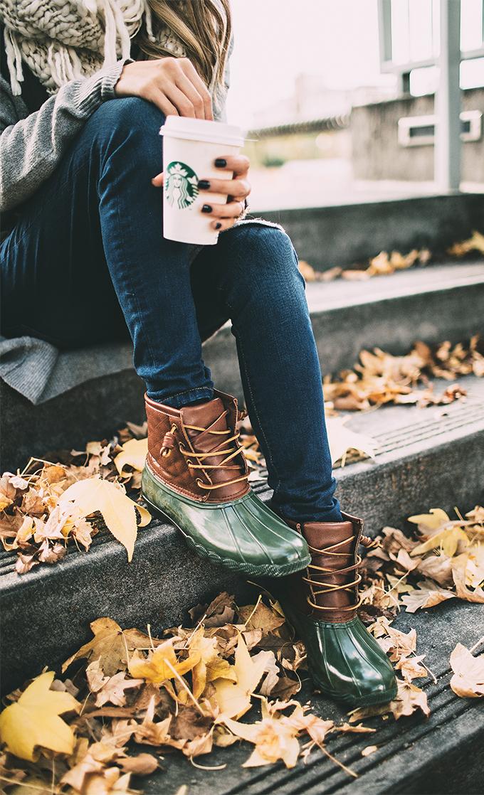 green duck boots