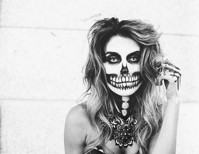 skeleton make up hello fashion blog