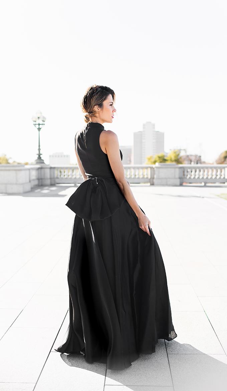 black bow skirt