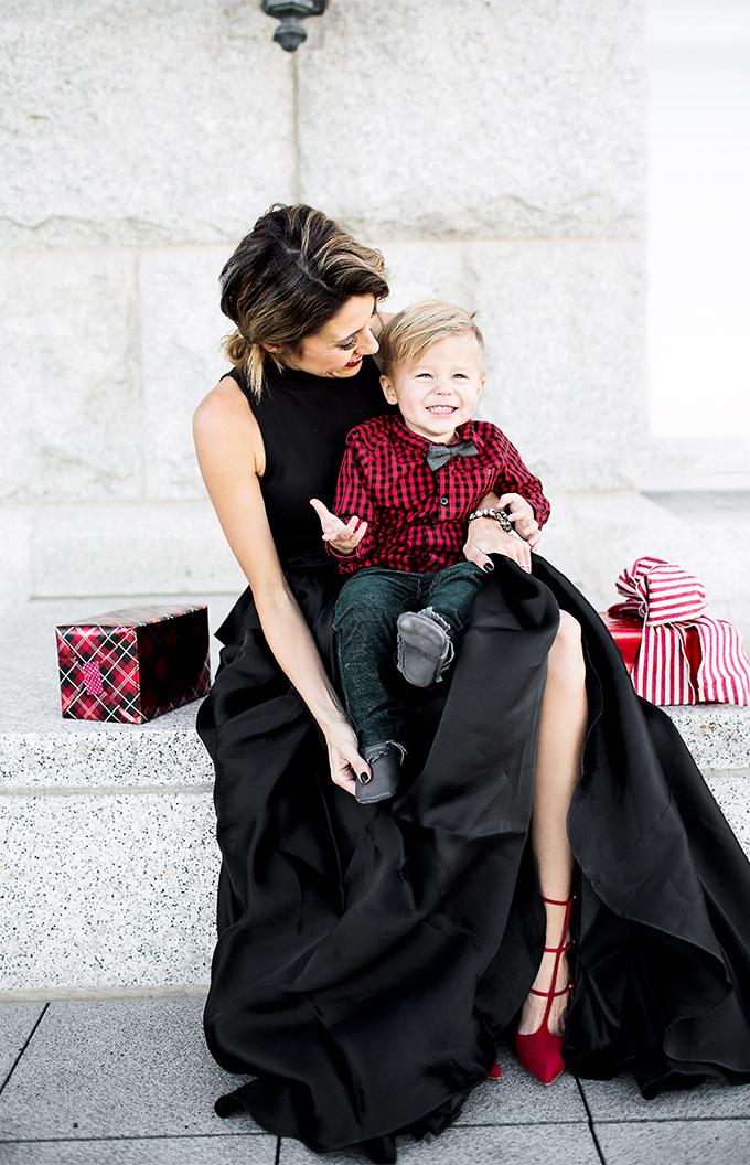 mom and son christmas