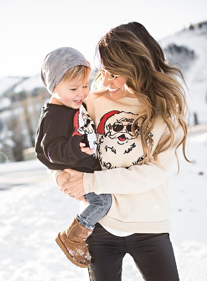 Christmas Santa Sweatshirts Hello Fashion Blog