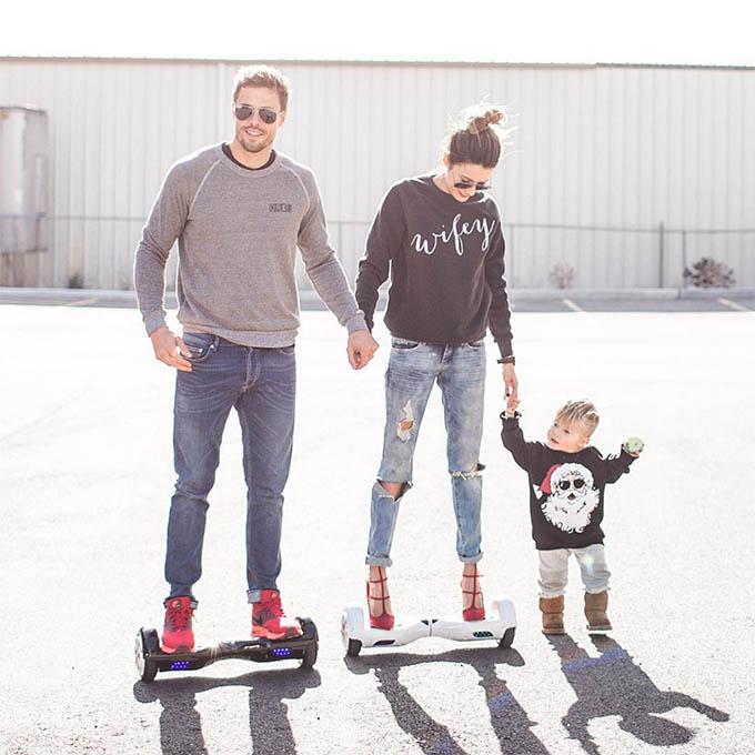 Black Wifey Sweatshirt ILY COUTURE