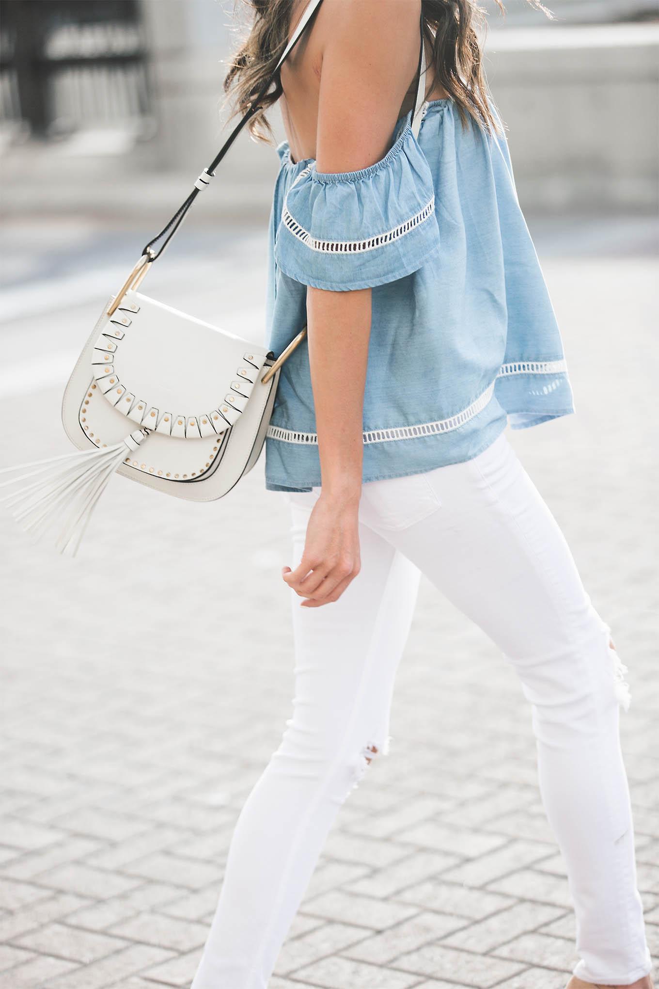 White Chloe Crossbody Hello Fashion Blog