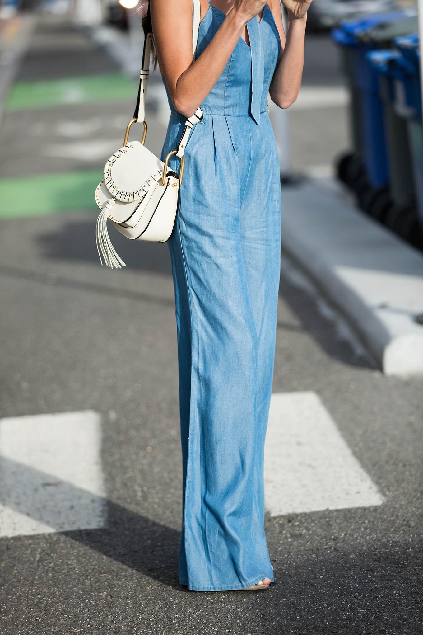 Denim jumpsuit Hello Fashion Blog