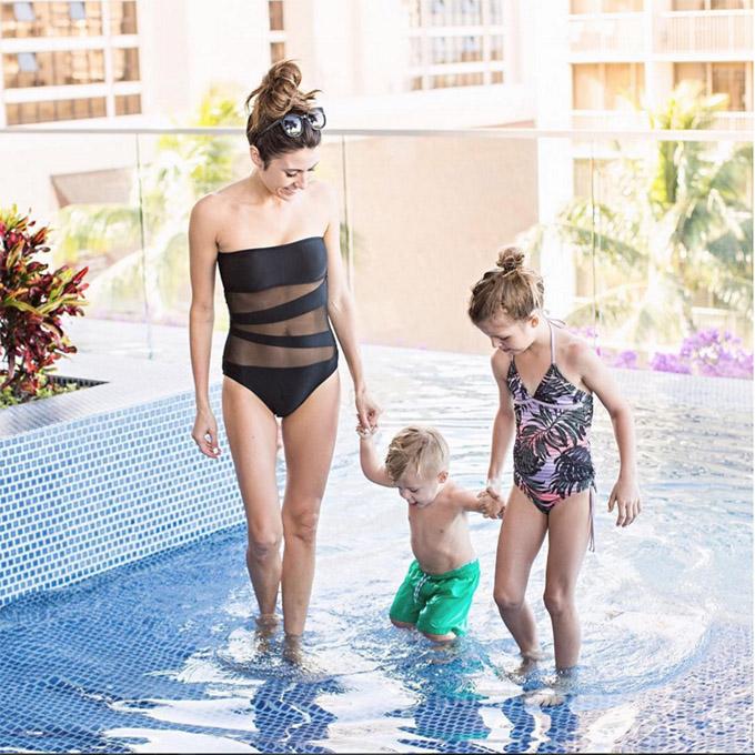 Black One Piece Swim suit Christine Andrew