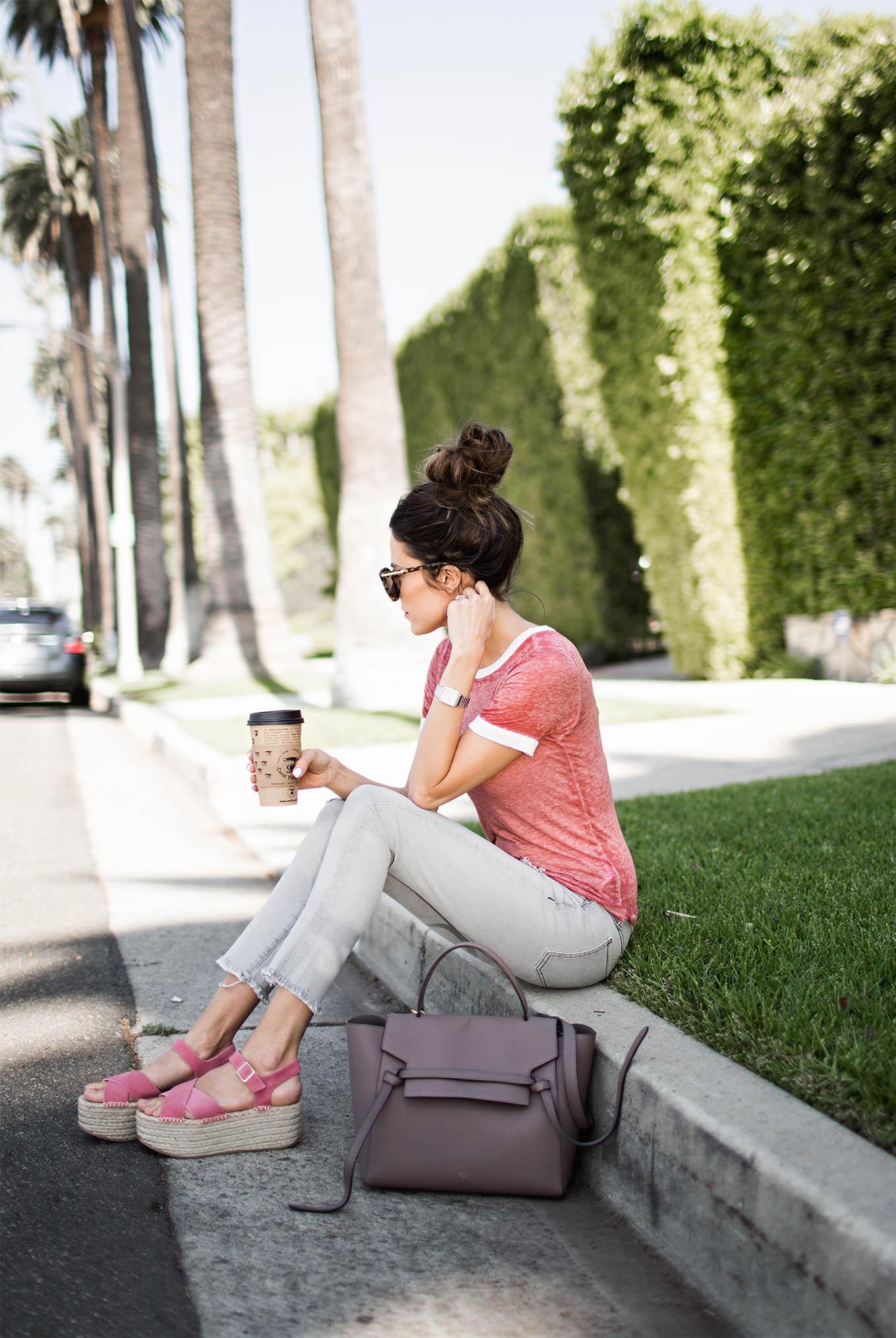 platform sandal, pink platform sandal