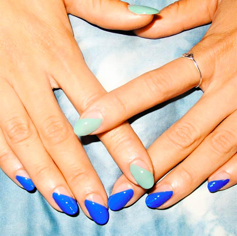 colorblocked manicure