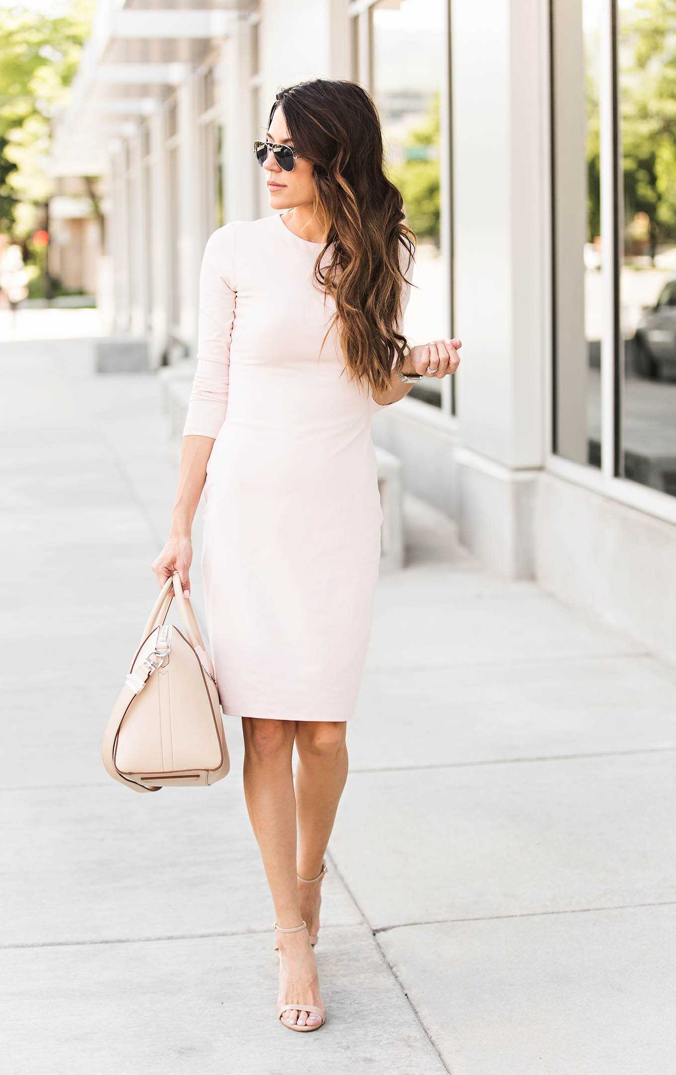 Pink Dress with sleeves Hello Fashion Blog