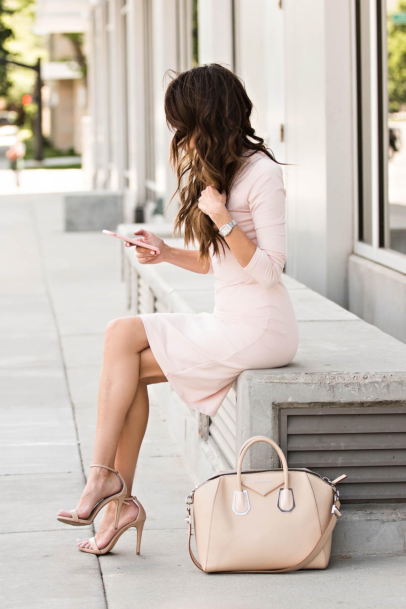 Blush dress for work