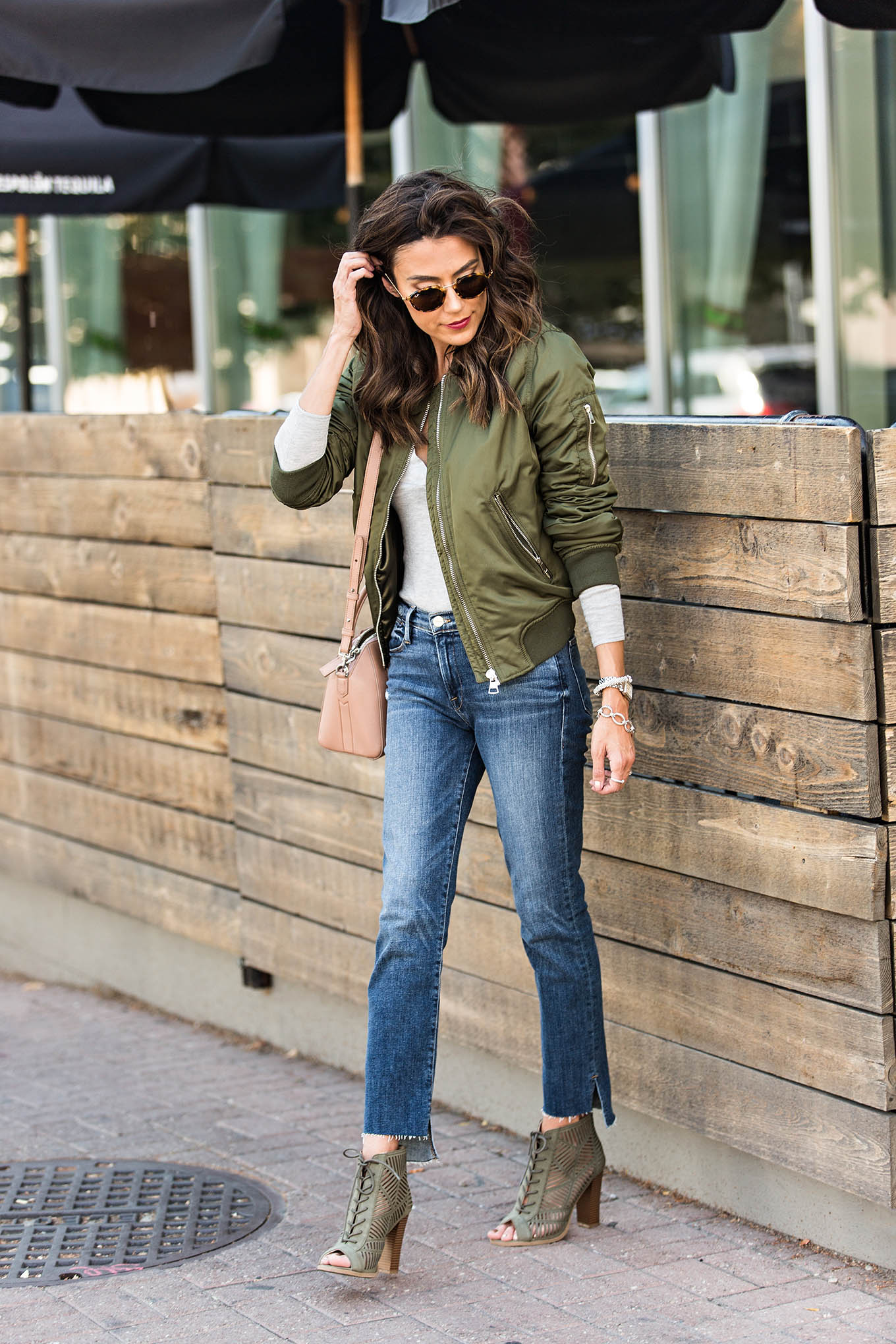 olive lace-up booties
