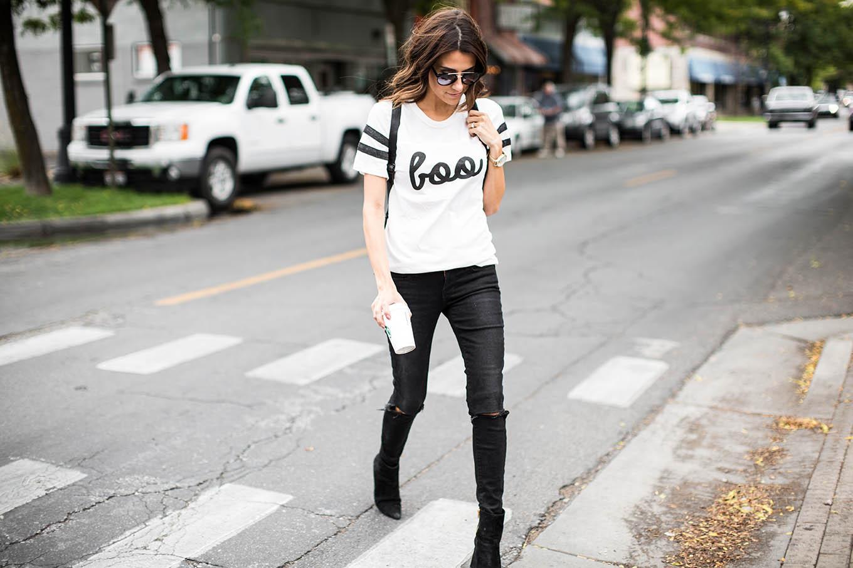 Women Halloween Shirt Hello Fashion Blog