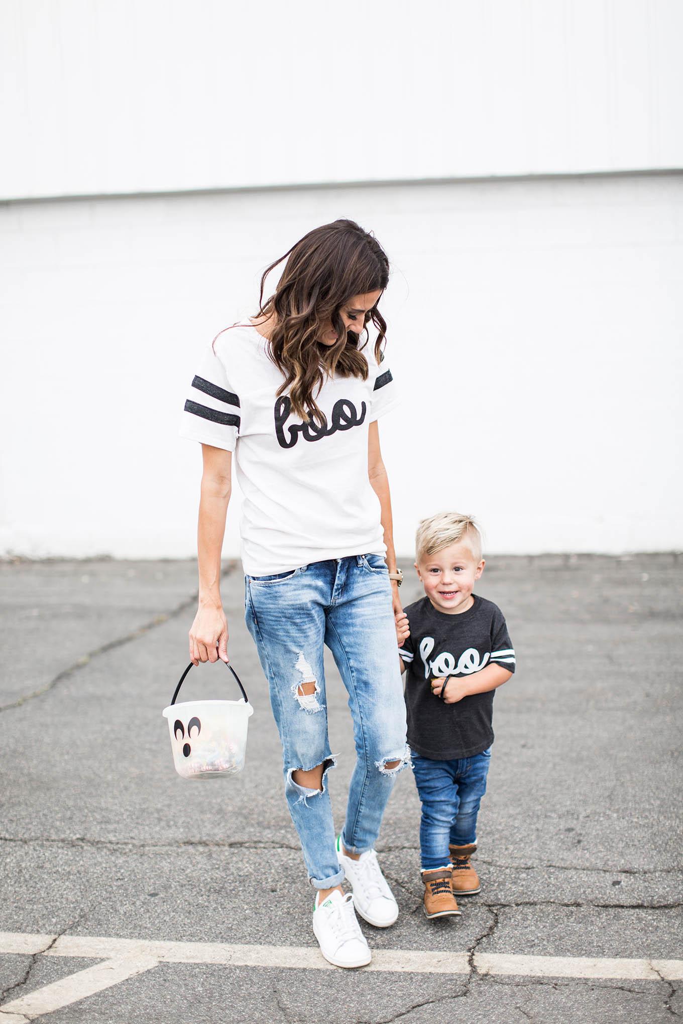 matching mom and kid halloween tee