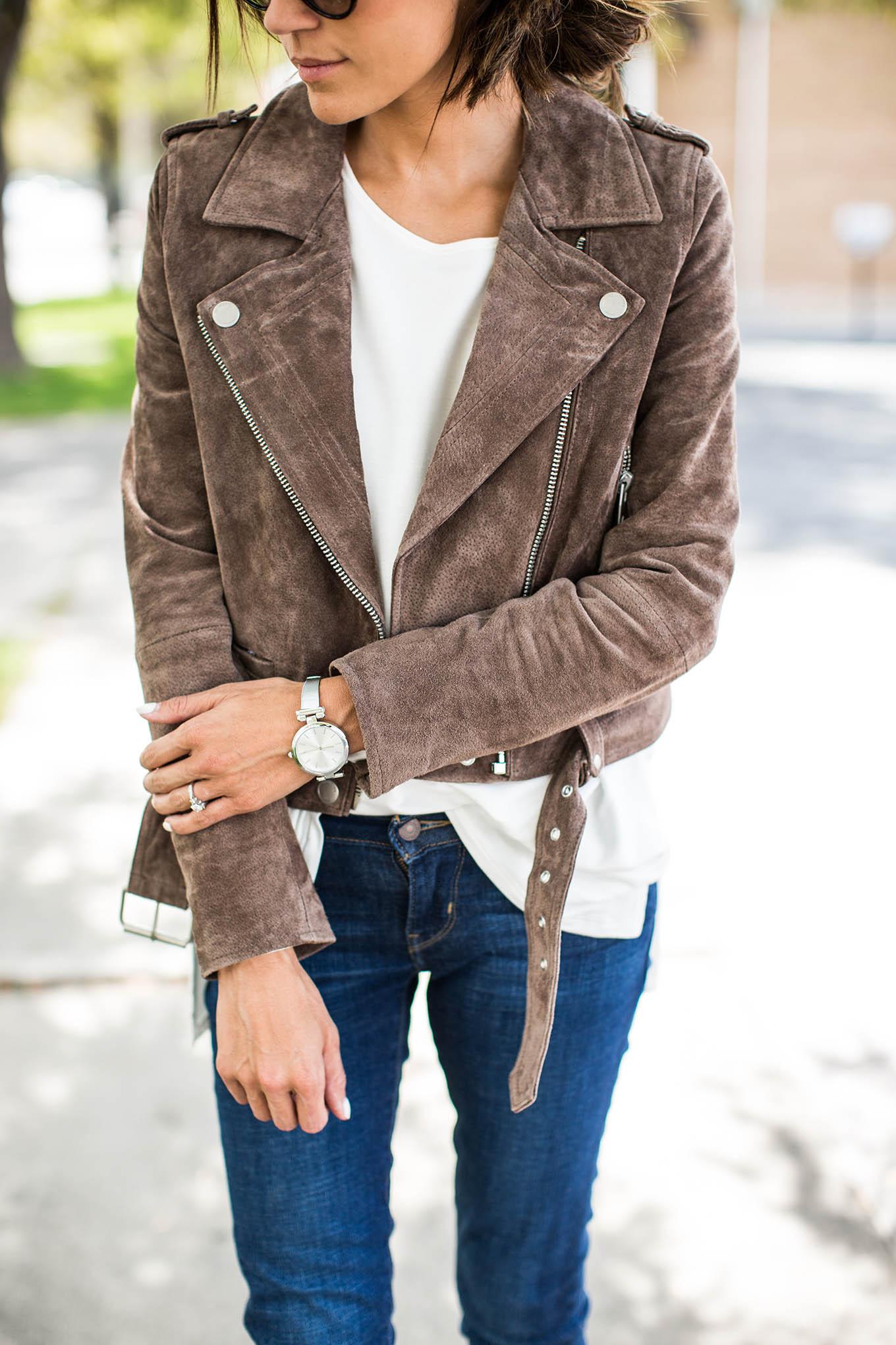 cute suede jacket
