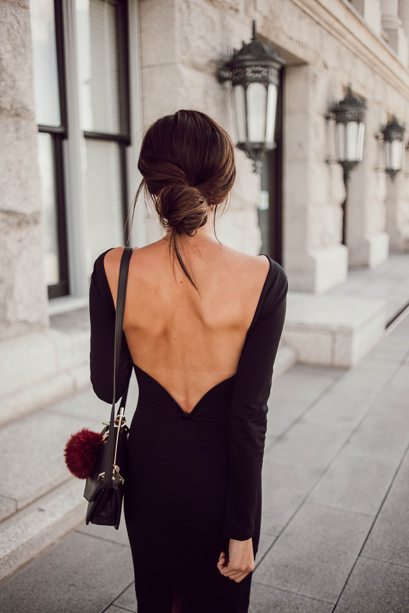 pretty open back dress