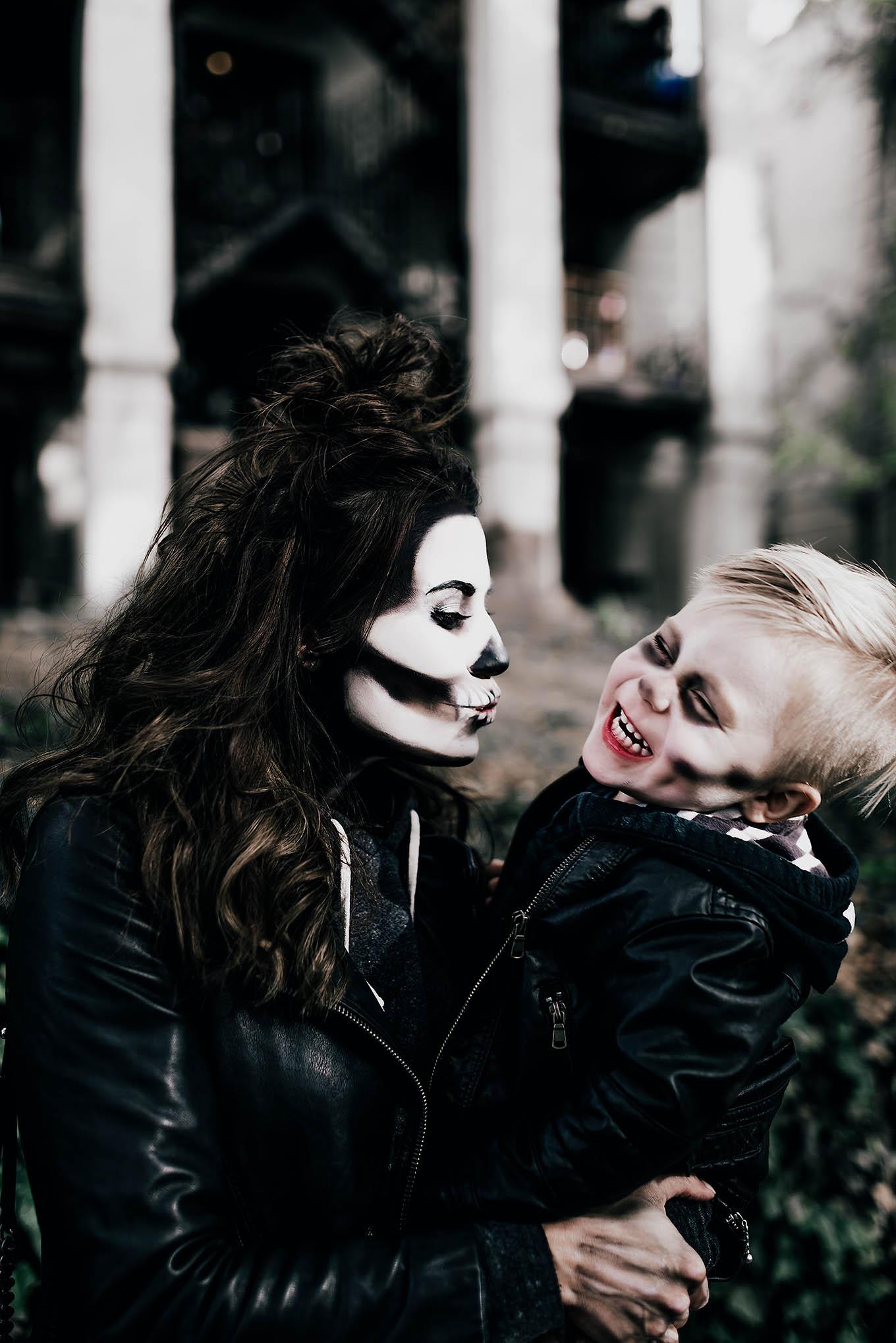 skeleton halloween make up hello fashion blog
