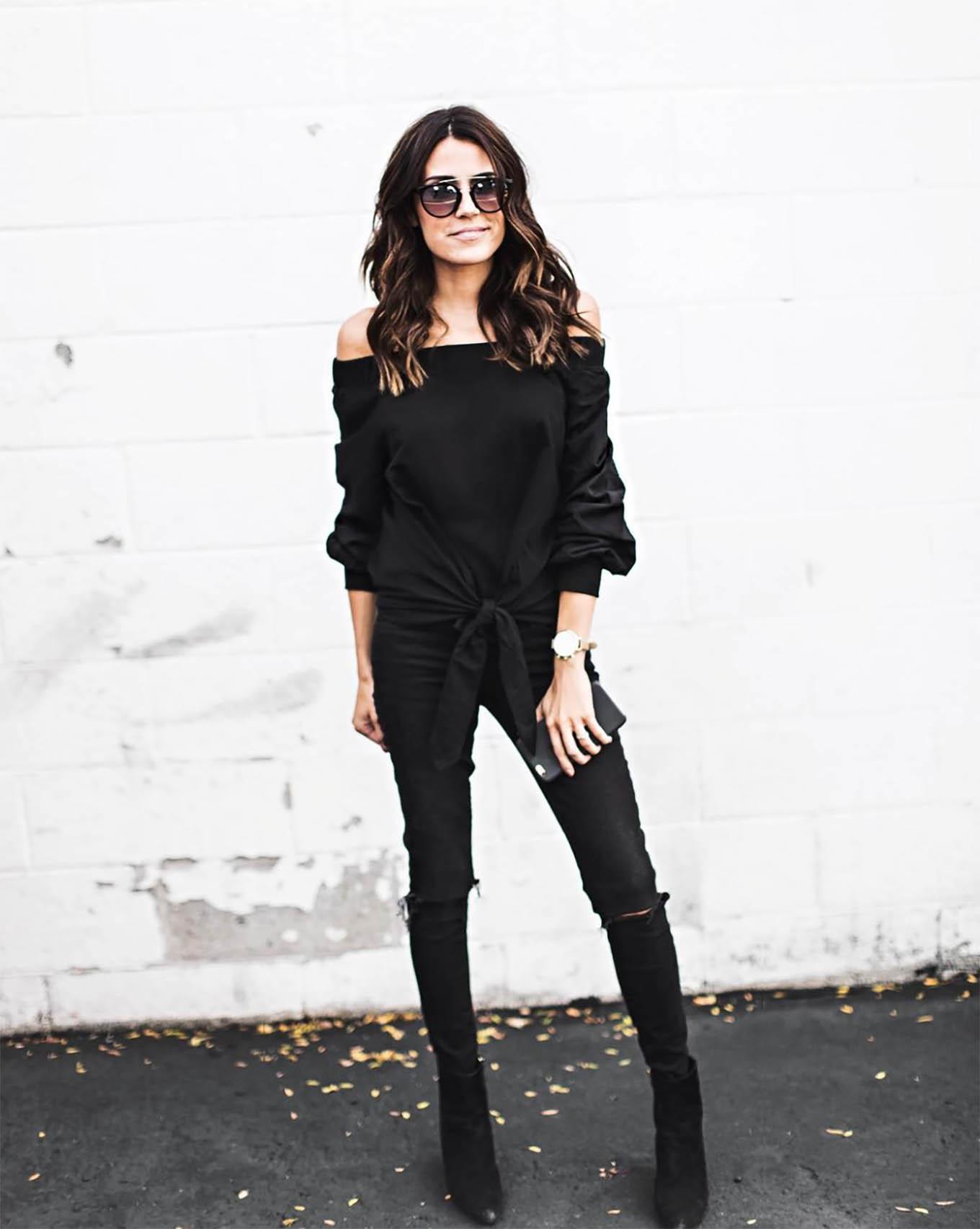 monochromatic black style