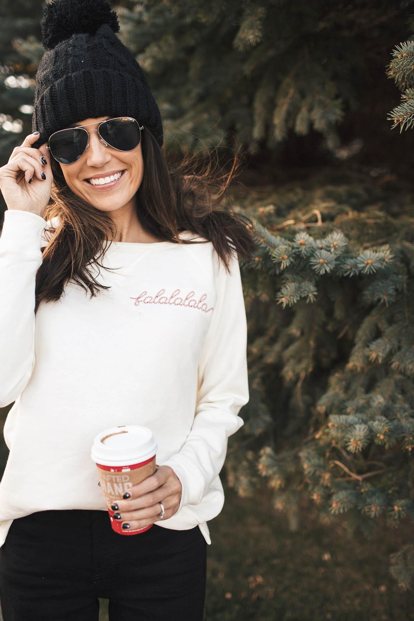christmas sweatshirt hello fashion