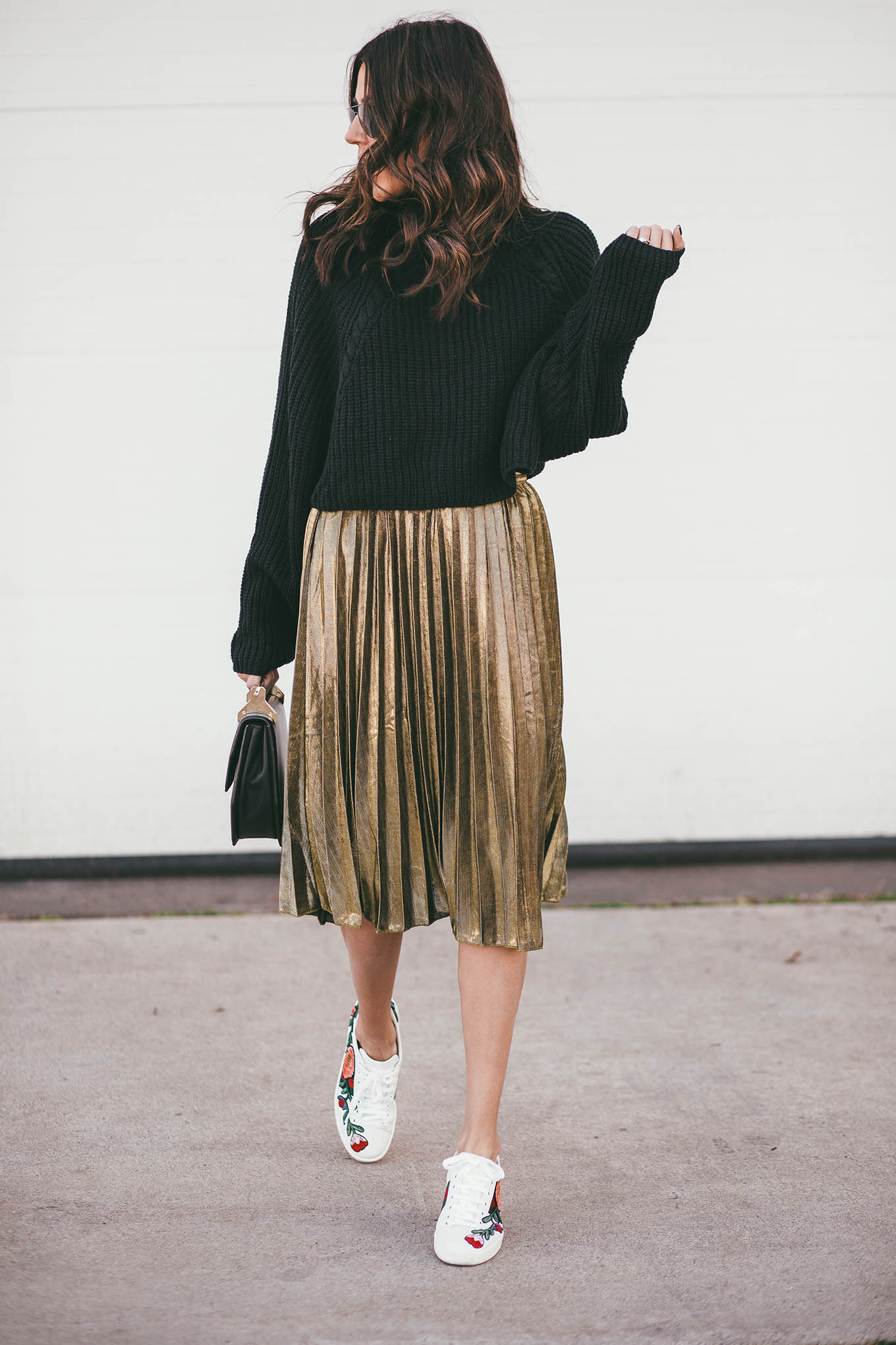 ily couture pleated skirt