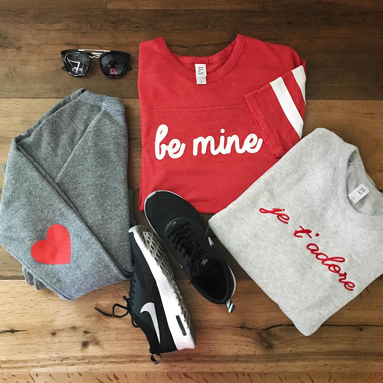 valentine's sweatshirts