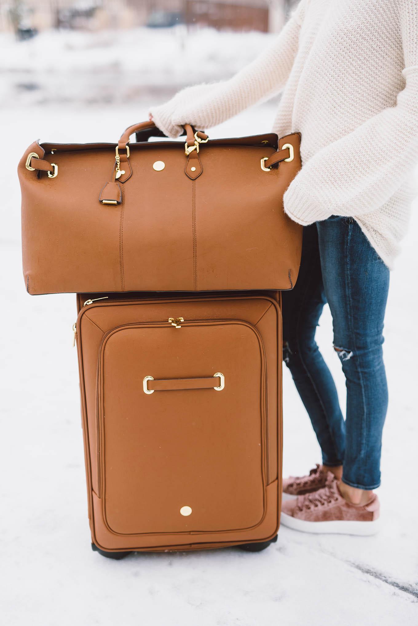 fashion blogger luggage