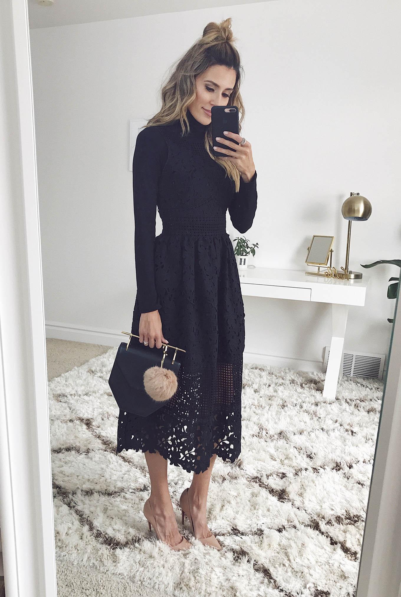 dressing up a black turtleneck
