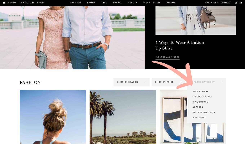 fashion blog designs