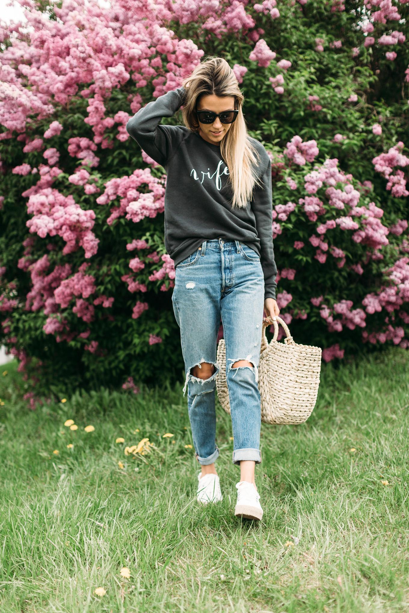 ily couture wifey sweatshirt