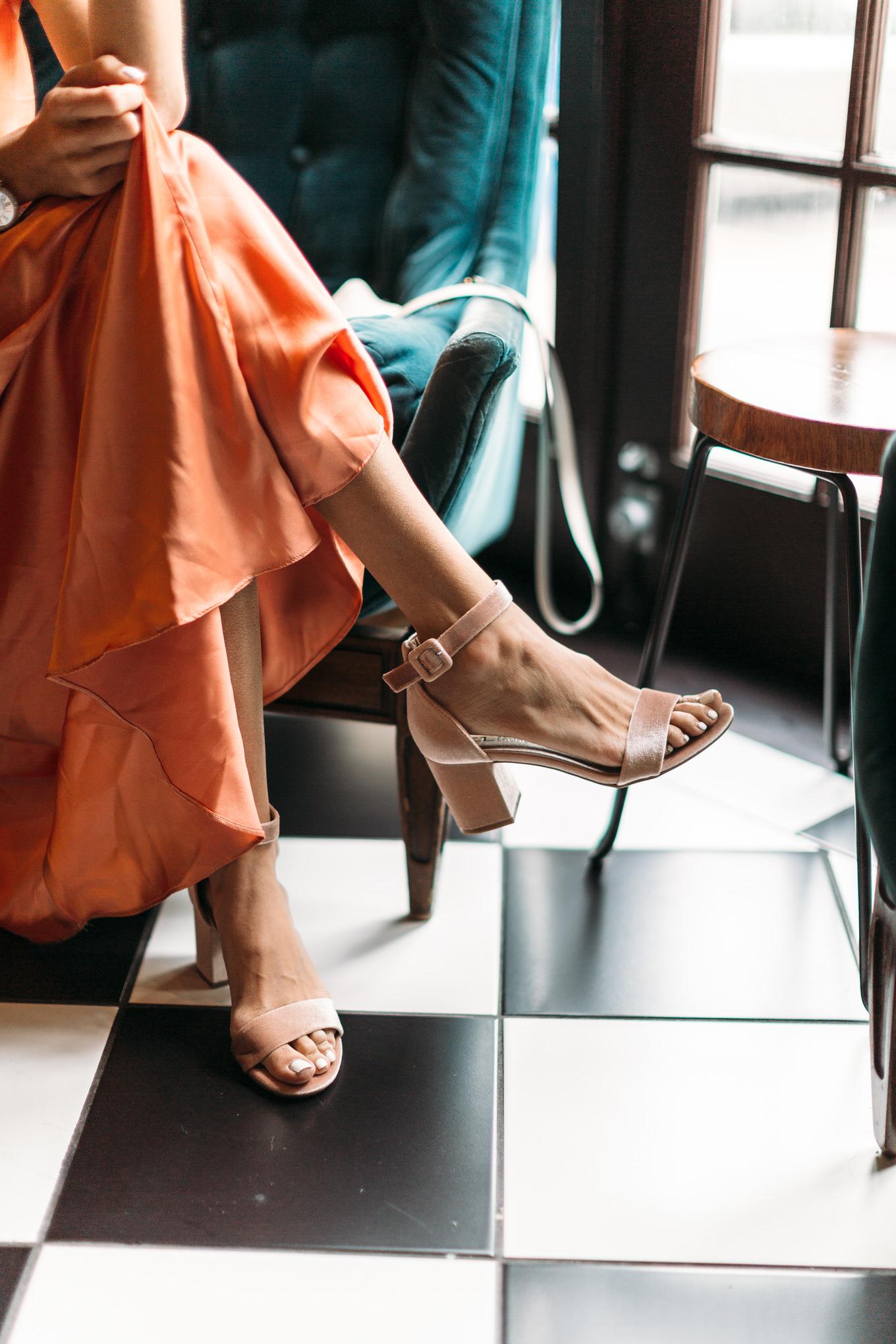 dsw heeled sandals