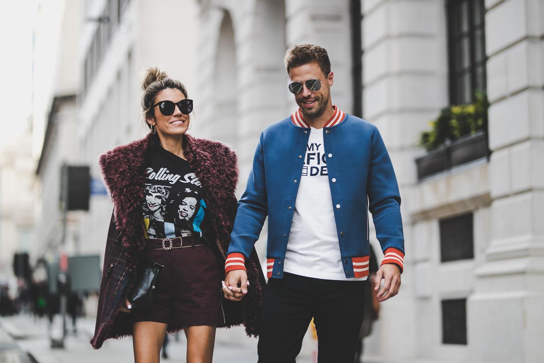 london fashion week couple style