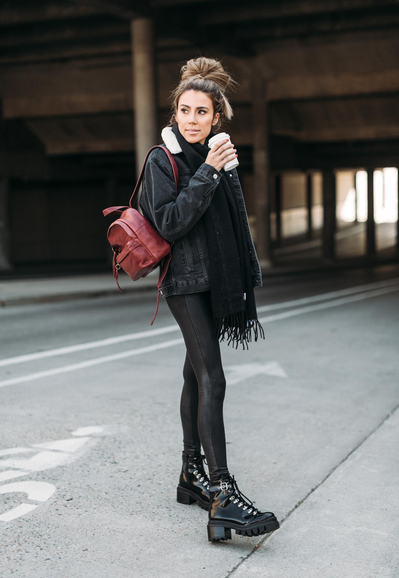 black winter look