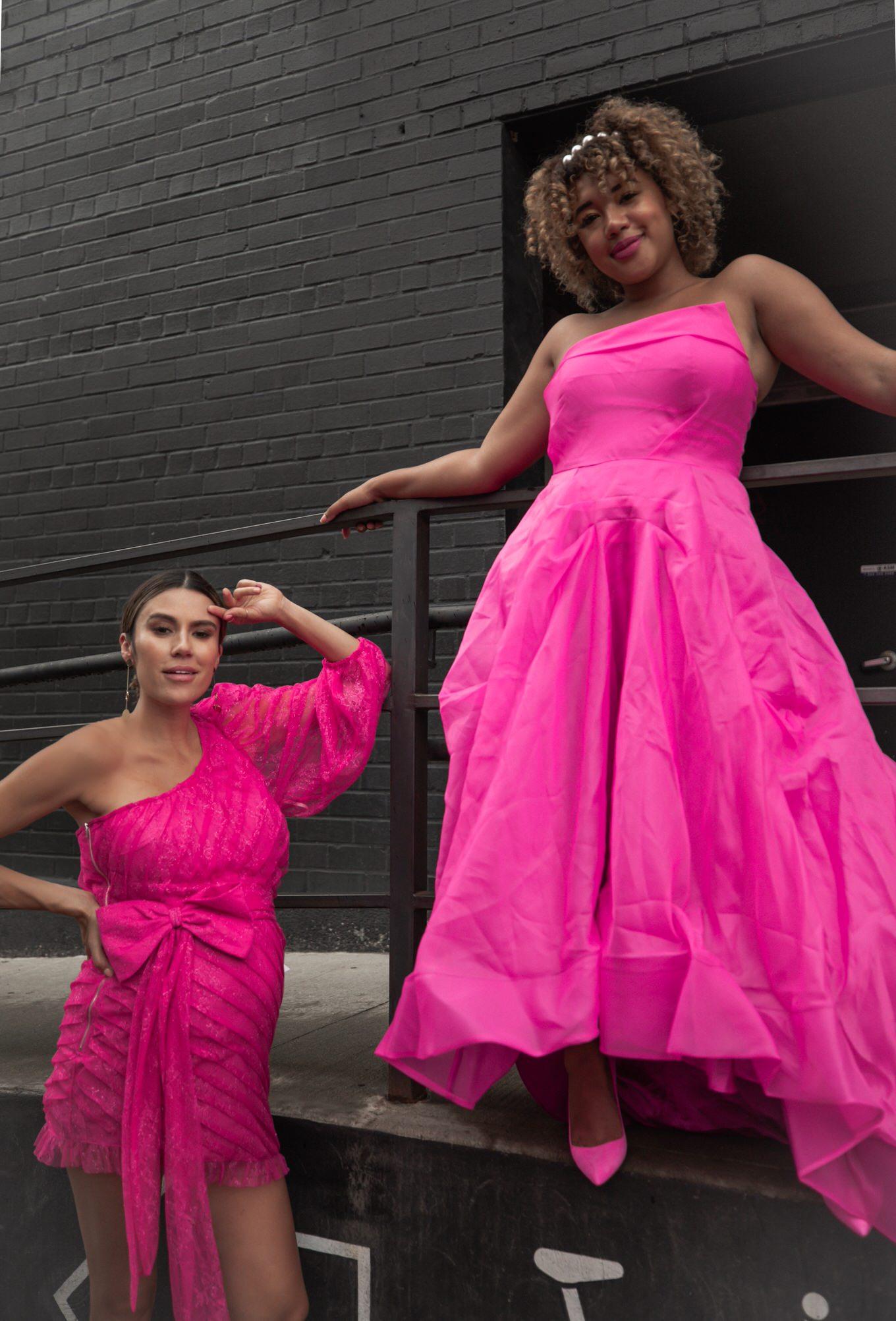 pink dresses it takes two hello fashion