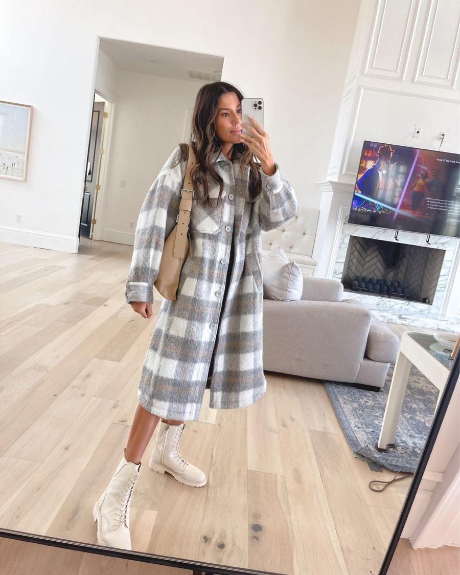 July best-seller, plaid coat