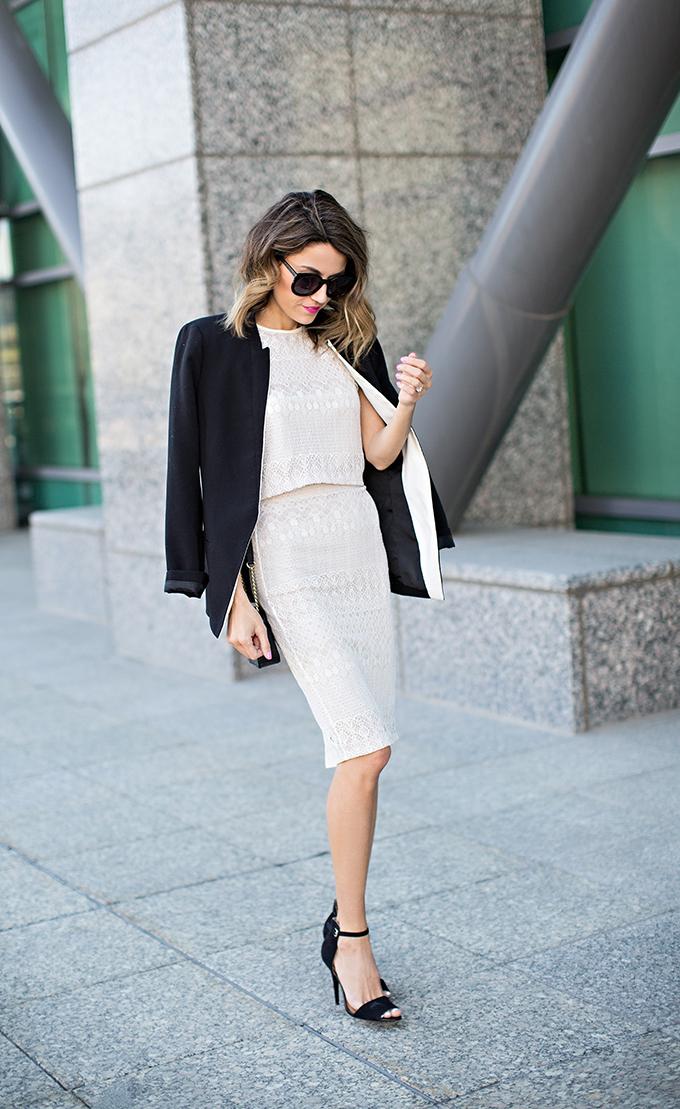 black and white hello fashion